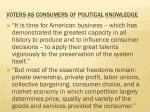 voters as consumers of political knowledge