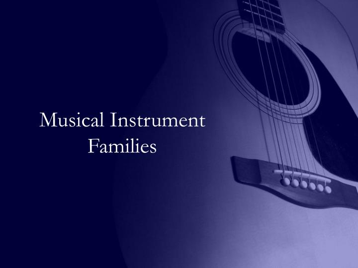 musical instrument families n.