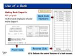 use of a bank1