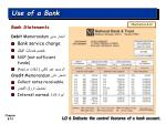 use of a bank3