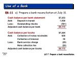 use of a bank7