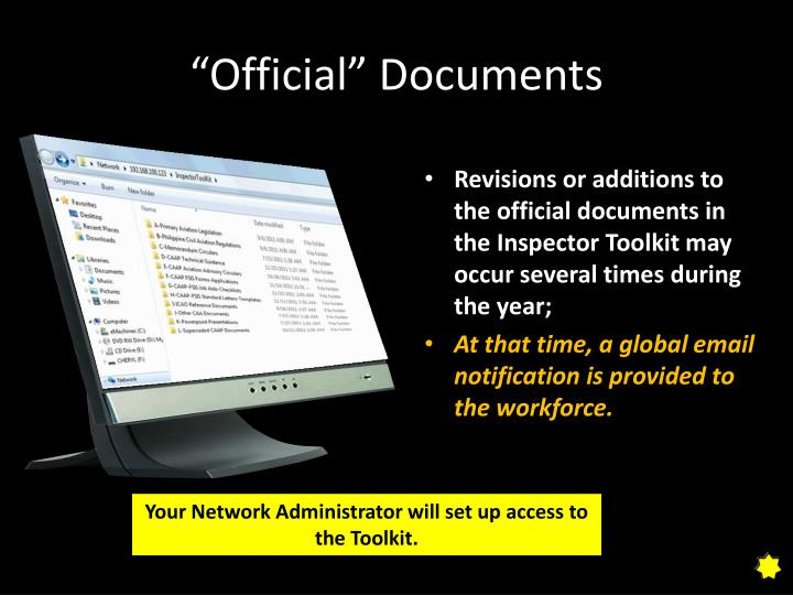 """""""Official"""" Documents"""