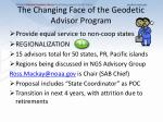the changing face of the geodetic advisor program2