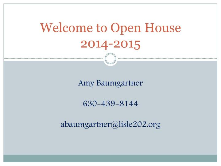 welcome to open house 2014 2015 n.