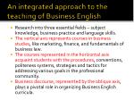 an integrated approach to the teaching of business english