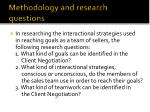 methodology and research questions1