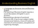 understanding business english1