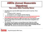 amos annual measurable objectives new under esea flexibility waiver