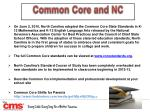 common core and nc