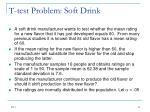 t test problem soft drink