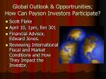 global outlook opportrunities how can payson investors participate