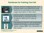hardware for training tool set