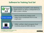 software for training tool set