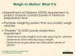 weigh in motion what it is