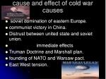 cause and effect of cold war causes