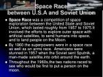space race between u s a and soviet union