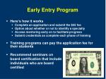 early entry program1