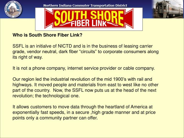 Who is South Shore Fiber Link?