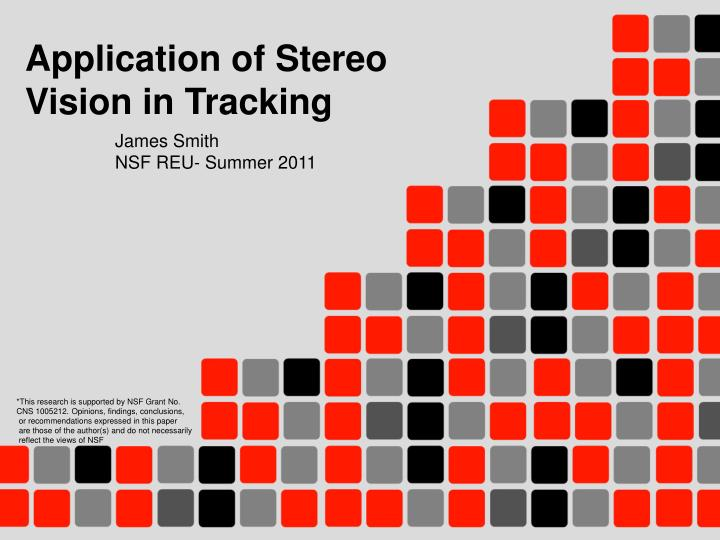 application of stereo vision in tracking n.