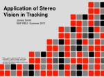 application of stereo vision in tracking