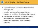 ab 86 planning workforce partners