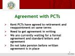 agreement with pcts