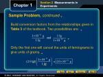 sample problem continued
