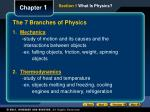 the 7 branches of physics