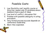 possible costs