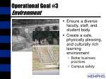 operational goal 3 environment