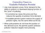 corrective taxes vs tradable pollution permits
