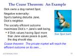the coase theorem an example