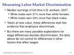 measuring labor market discrimination