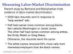 measuring labor market discrimination2
