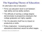 the signaling theory of education