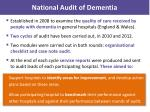 national audit of dementia