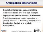 anticipation mechanisms