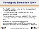 developing simulation tools