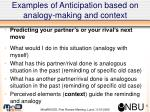 examples of anticipation based on analogy making and context3