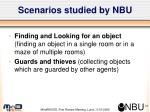 scenarios studied by nbu
