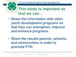 this study is important so that we can1