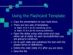 using the flashcard template