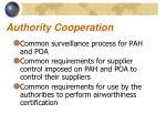 authority cooperation