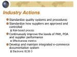 industry actions