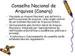 conselho nacional de arquivos conarq