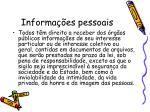 informa es pessoais