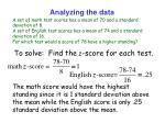 analyzing the data3