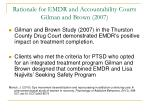 rationale for emdr and accountability courts gilman and brown 2007