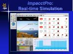 impacctpro real time simulation
