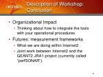 description of workshop conclusion